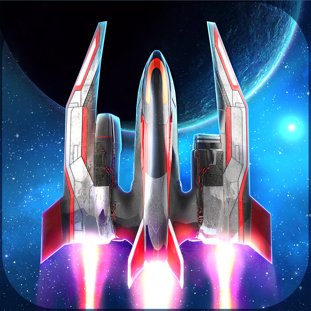 Space Shooter Ship an On-rails Space Shooter